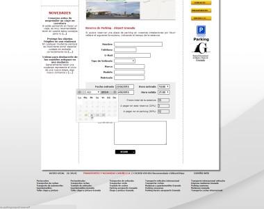 Formulario de reserva con c�lculo autom�tico de tarifa
